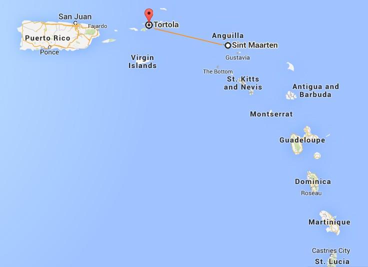 Map Us Virgin Islands St Maarten