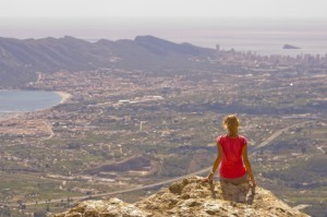 Hiking in Spain with amazing views