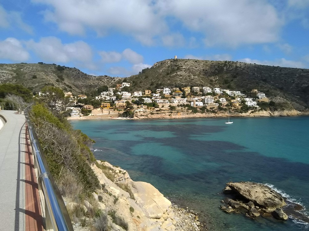 the walk to El Portet beach