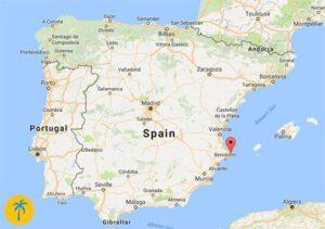 map of Moraira, Spain