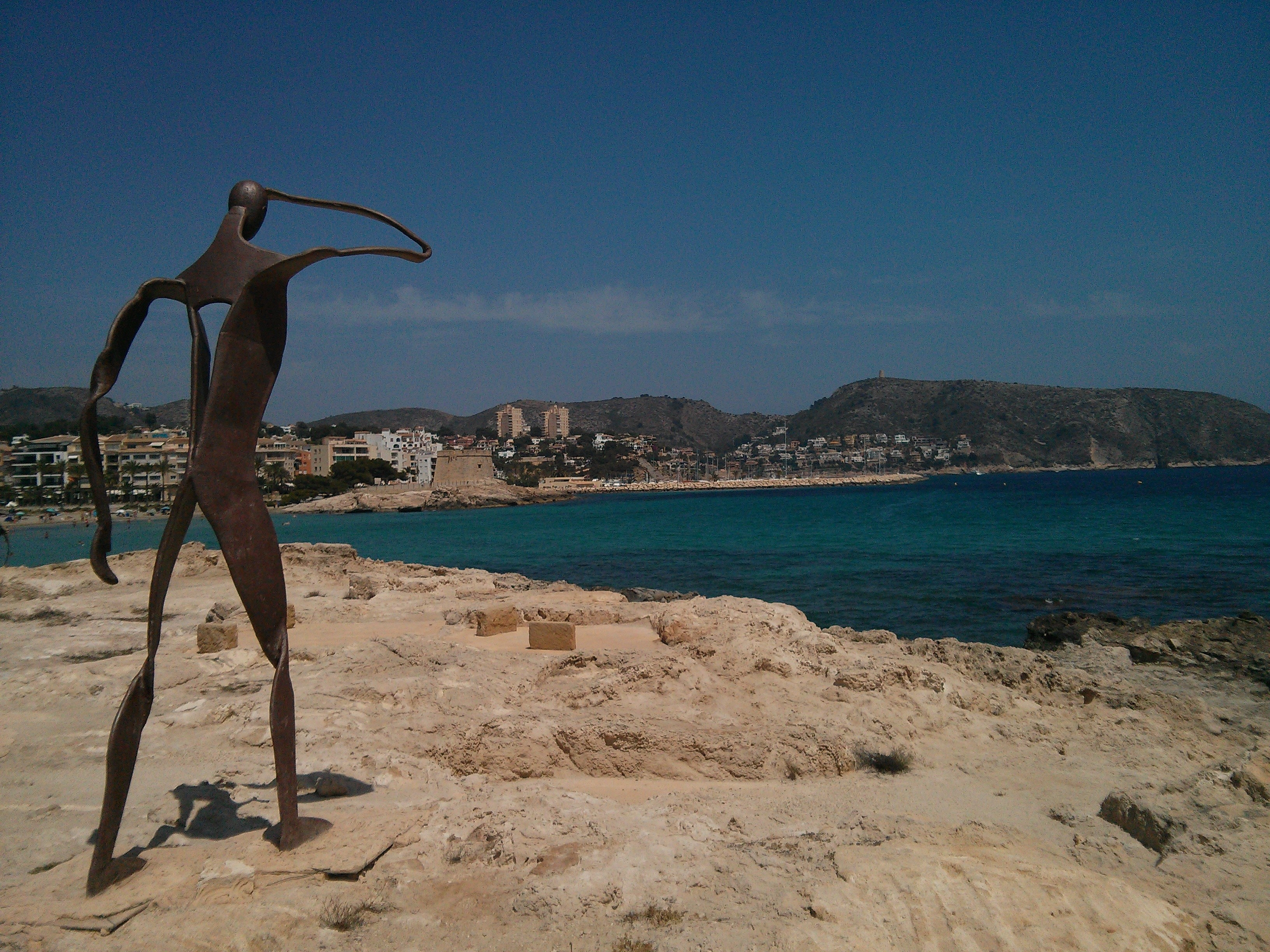 Statue looking out over Moraira, Costa Blanca