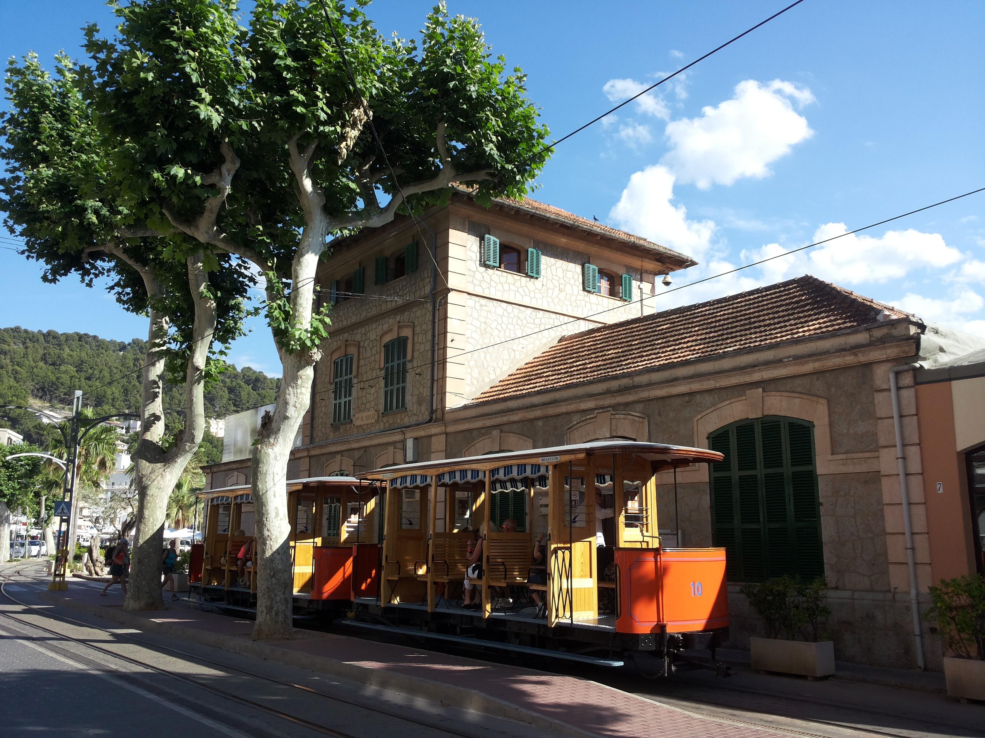 vintage tram from Soller to Port de Soller