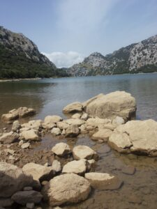 Lake surrounded by the Tramuntana mountains