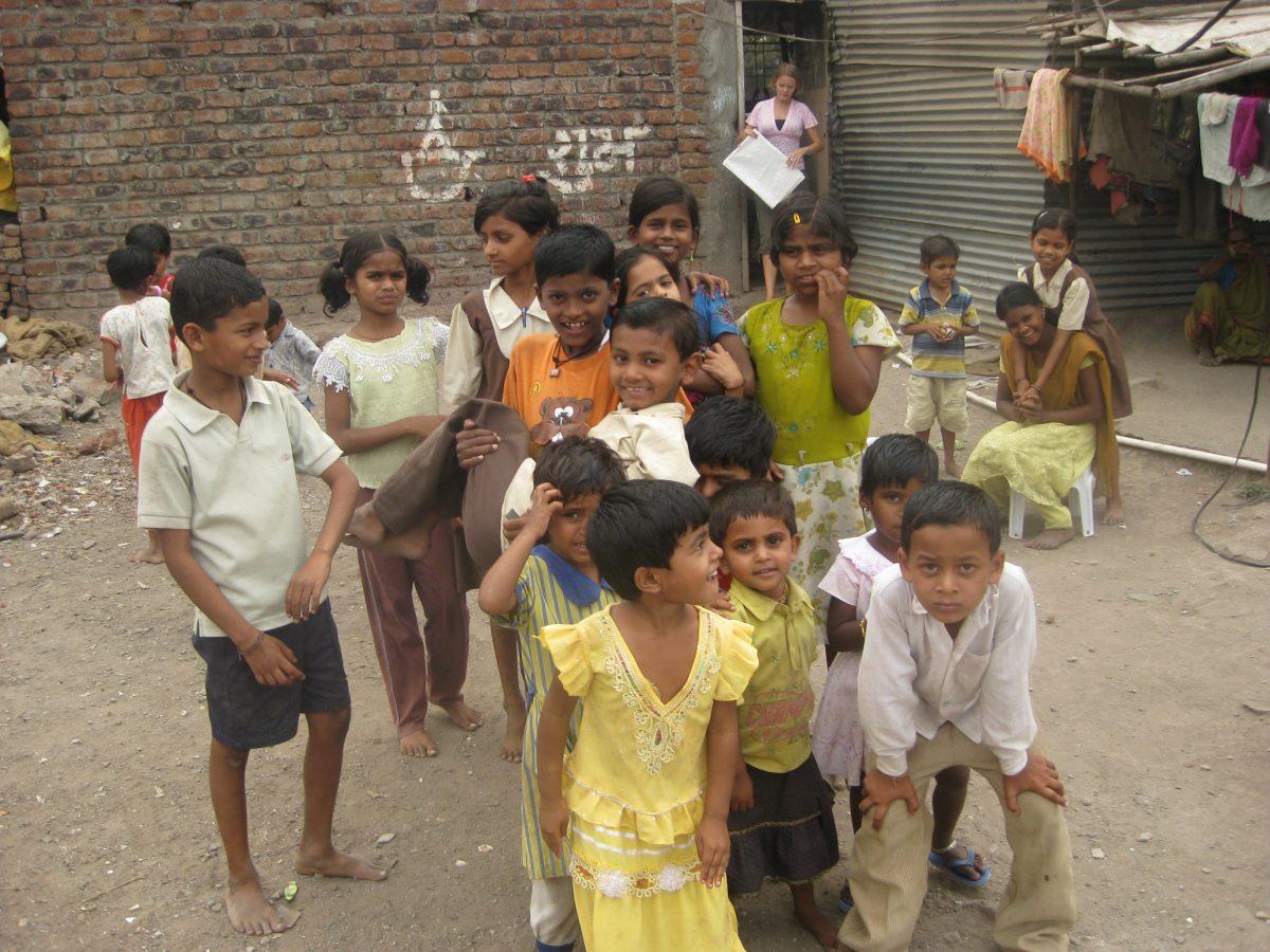 Volunteering at a slum school in India