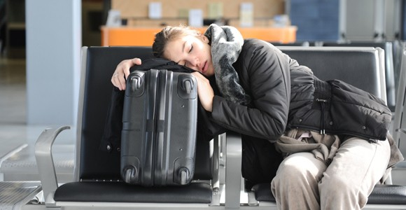 Image result for sleeping in airport