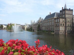 Hofvijver and Binnenhof in The Hague