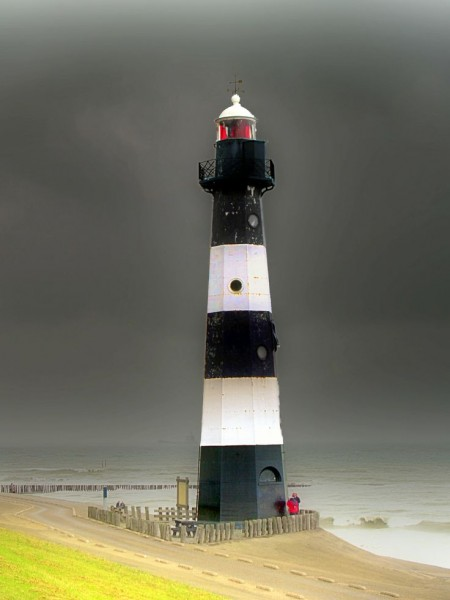 lighthouse in Breskens, Zeeland