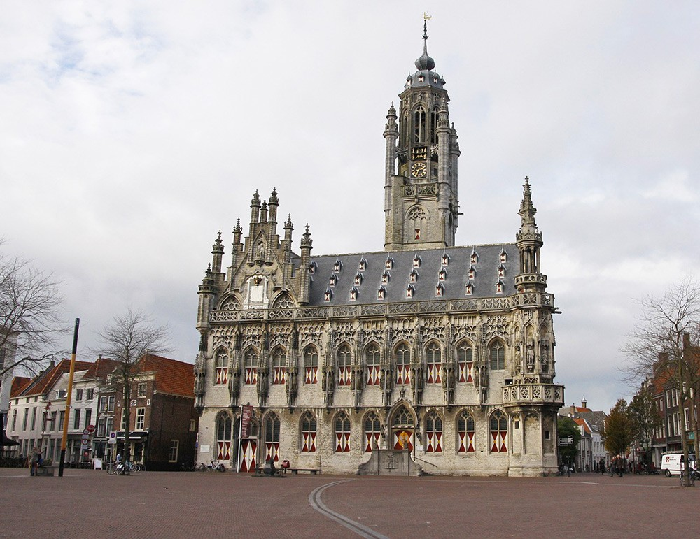 Old city hall in Middelburg, Zeeland