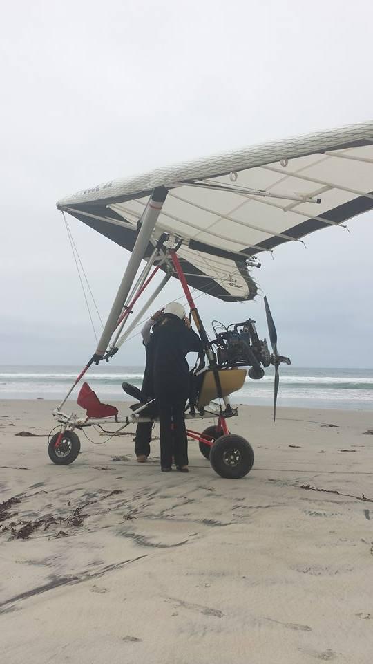 flying an ultralight in Baja California, Mexico