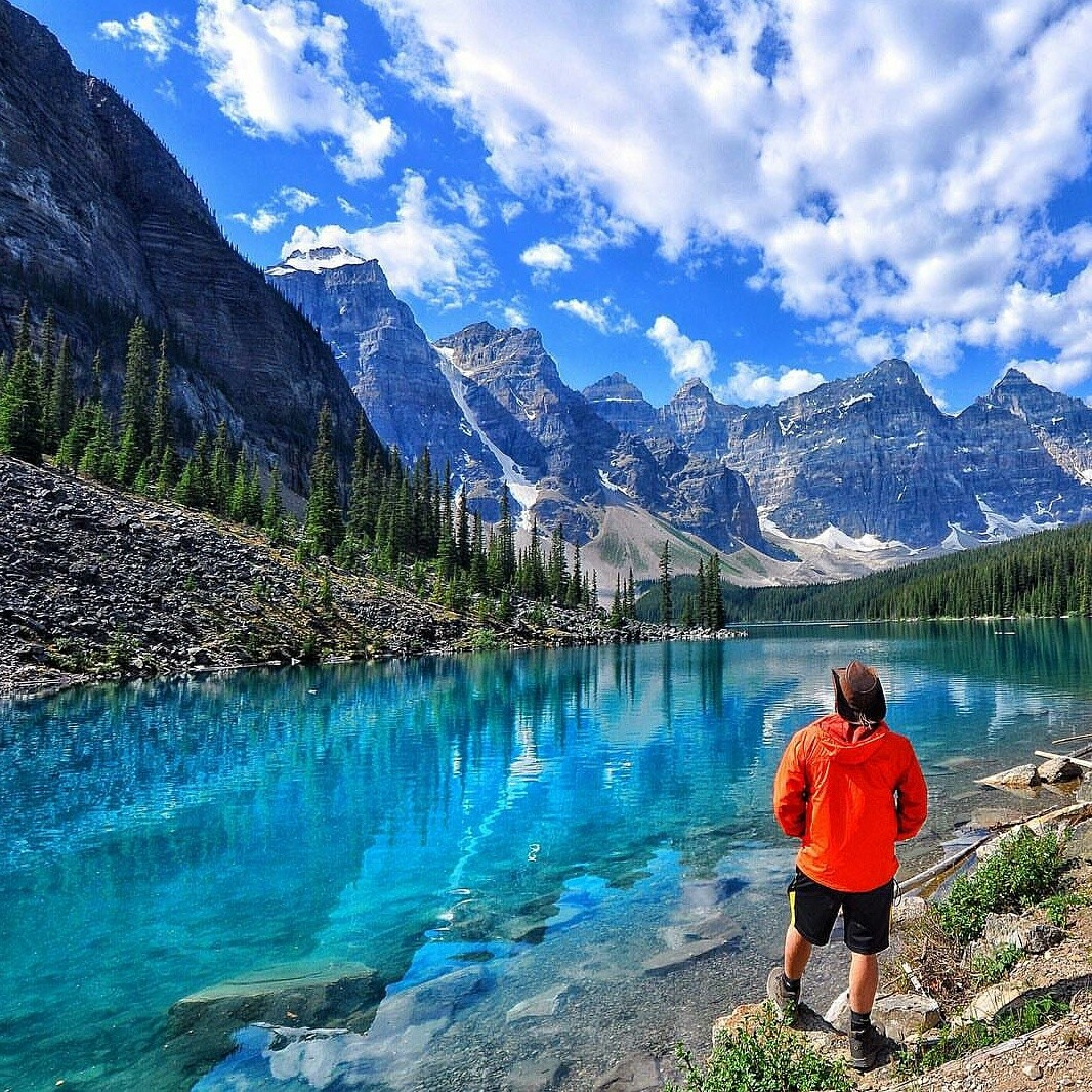 Travel inspiration - where to travel to next: Moraine Lake, Alberta, Canada