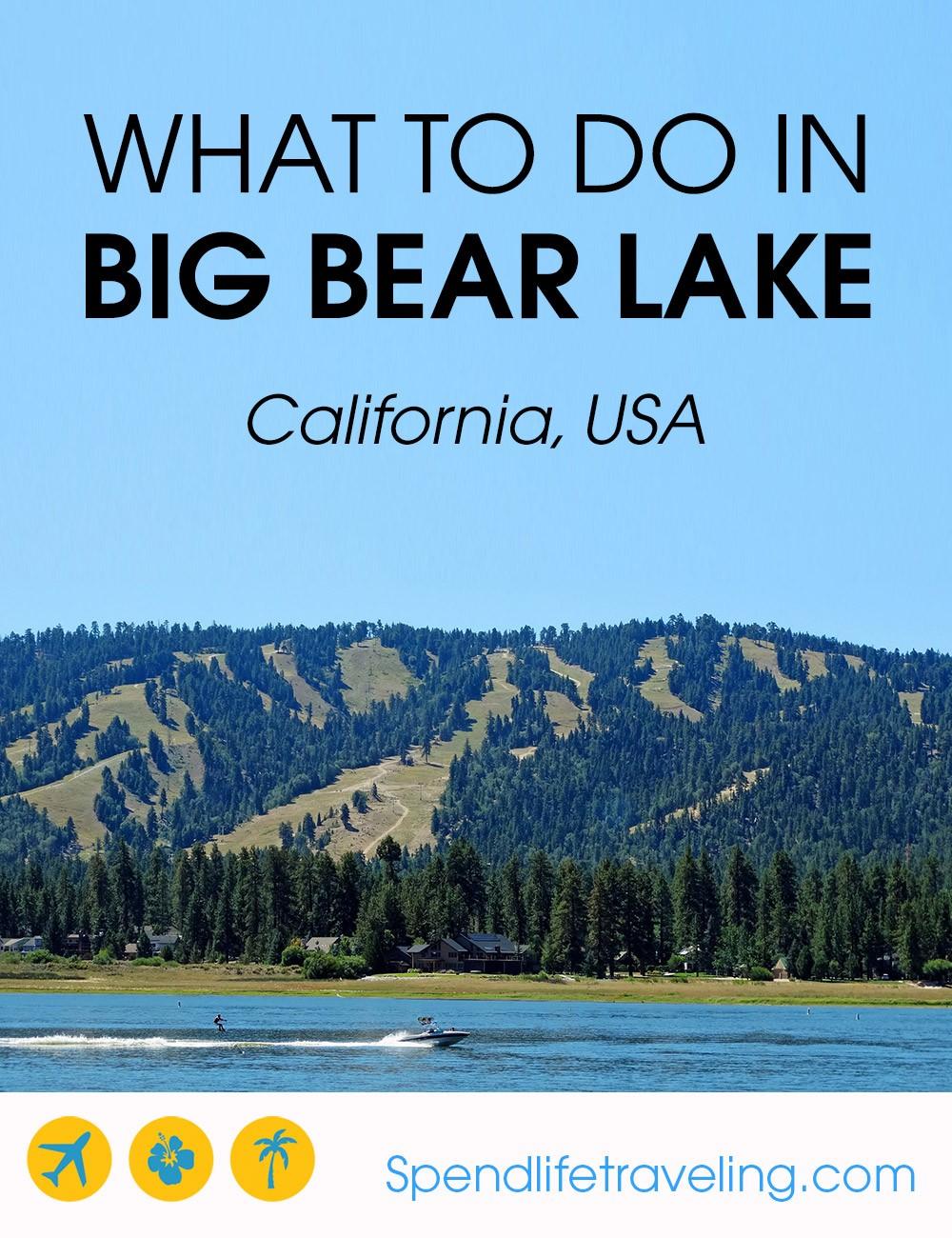 What to do on a weekend trip to Big Bear, California. #bigbearlake #travelcalifornia #bigbear