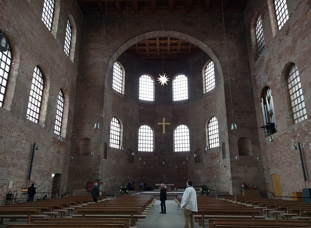 inside the Konstantin-Basilika in Trier, Germany