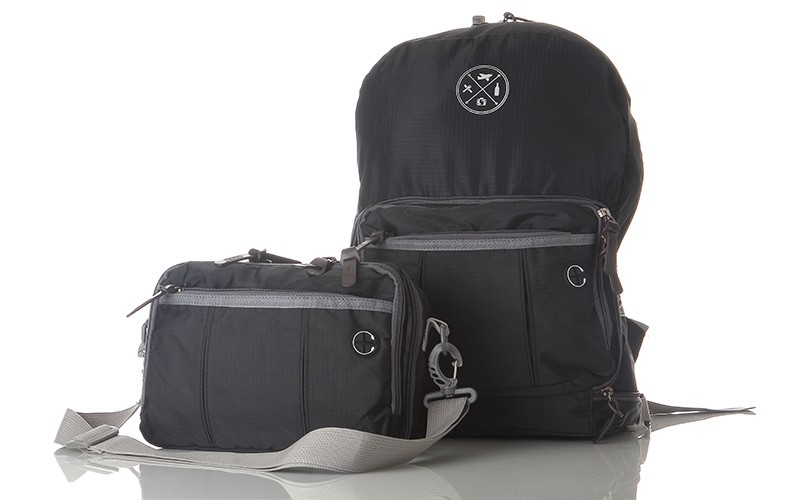 travel backpack and purse