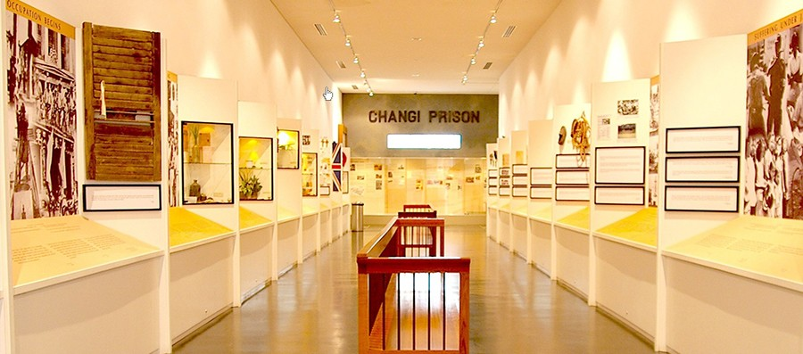 inside the Changi Museum in Singapore