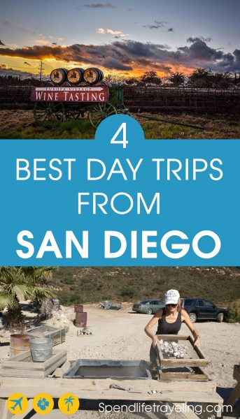 There is a lot to see only a short road trip away from San Diego. These are 4 of the best day trips from San Diego, California. #sandiego #californiadaytrips
