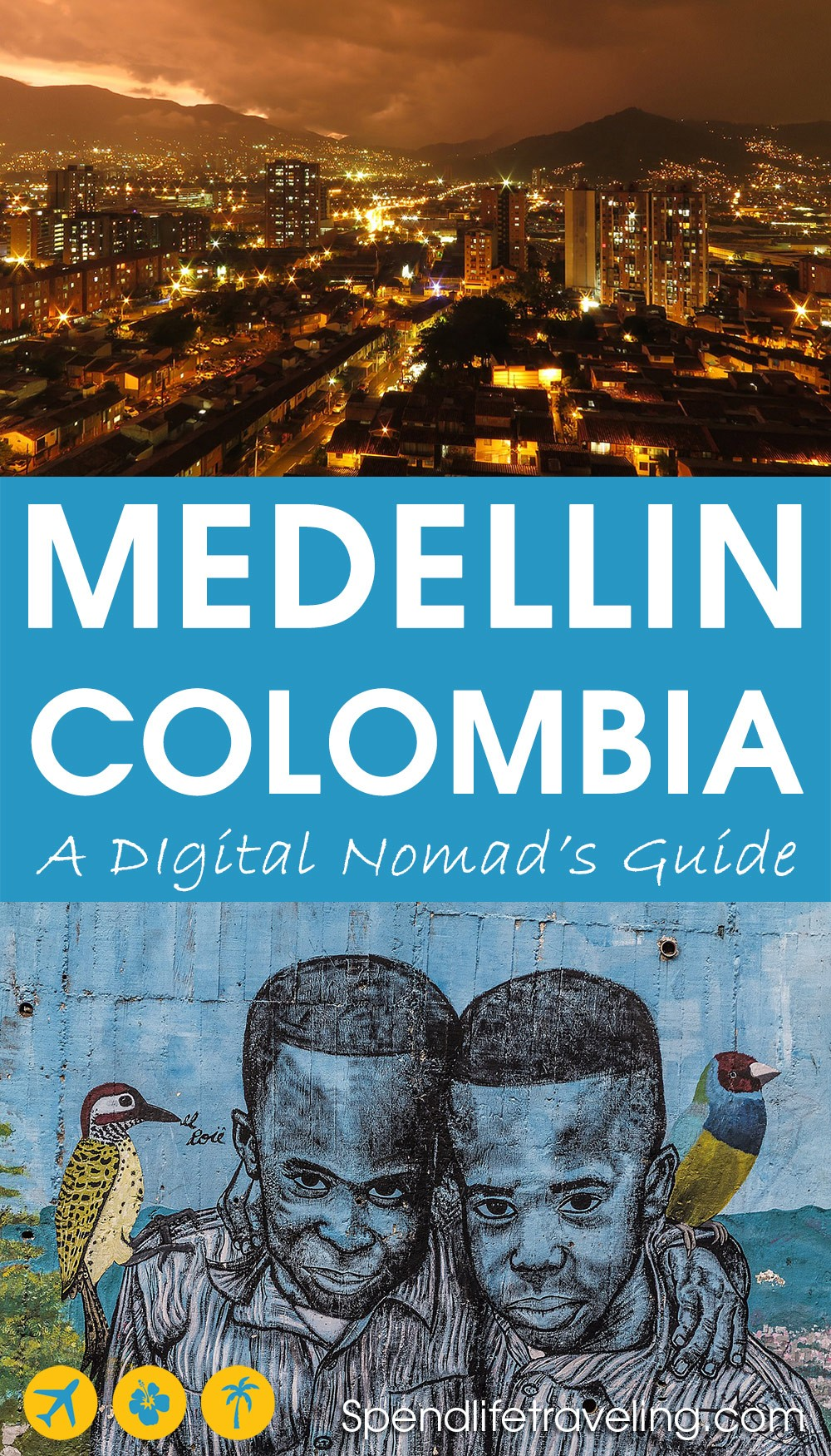 A digital nomad's guide to Medellin, Colombia. Are you thinking about spendling some time in Medellin to work remotely? Check out this practical guide with tips about where to stay, where to work from, what to do and more!