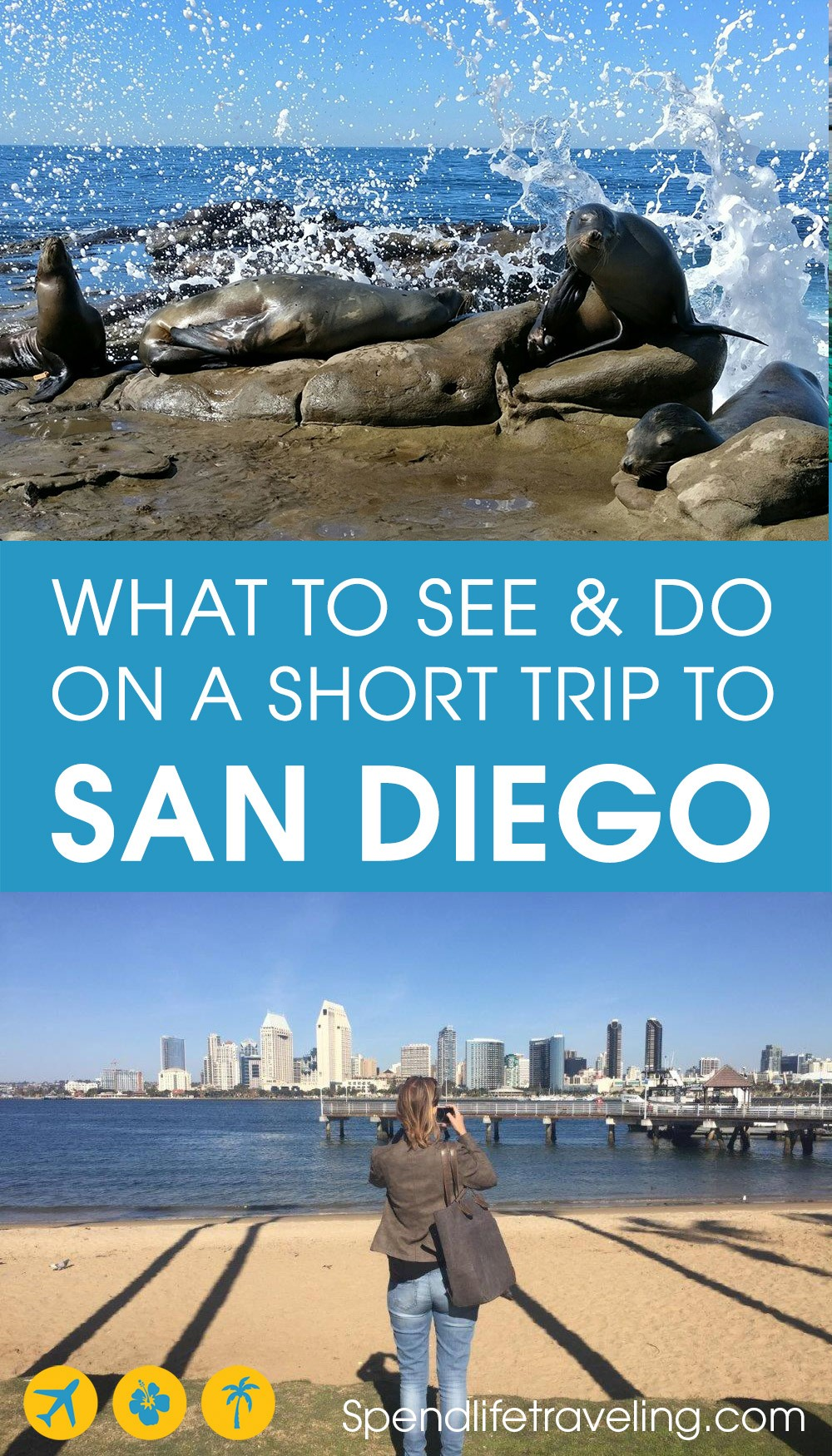 San Diego is a beautiful city in Southern California, which is often overlooked by travelers. But if you visit California I highly recommend spending at least a few days in San Diego! And these are 11 fun things to do in San Diego - a practical travel guide with map. #SanDiego #California #visitSanDiego