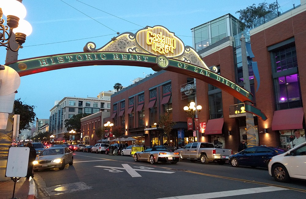 when visiting San Diego you have to check out the Gaslamp quarter