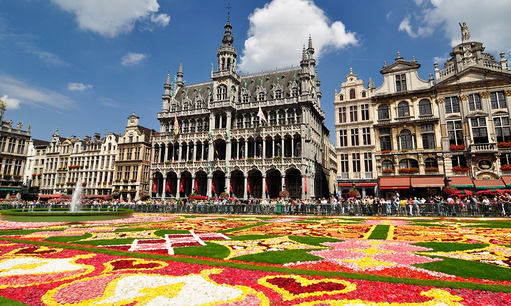 a must visit in Brussels: the flower carpet