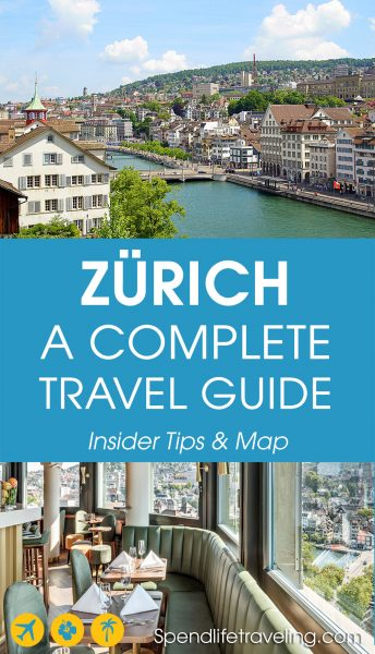 From the sights to see to where to eat and drink. This complete travel guide to Zürich tells you all you need to know to plan your perfect trip to #Zürich, Switzerland. Tips from an Insider & a travel map. #citybreak #traveltips #visitSwitzerland #travelEurope