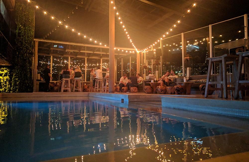 rooftop pool in Medellin at Envy