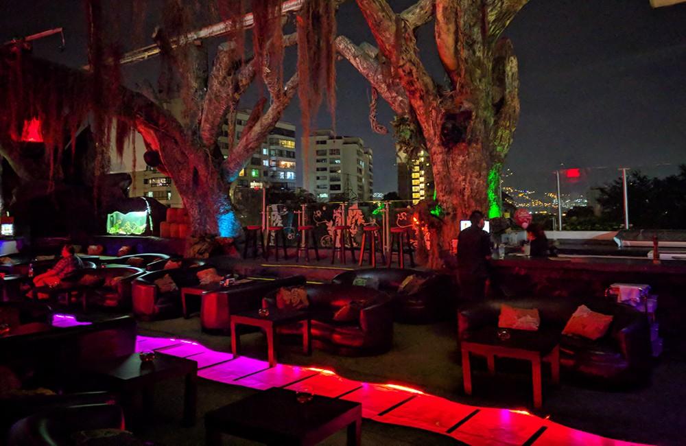 Best rooftop bar in Medellin: Woka rooftop bar