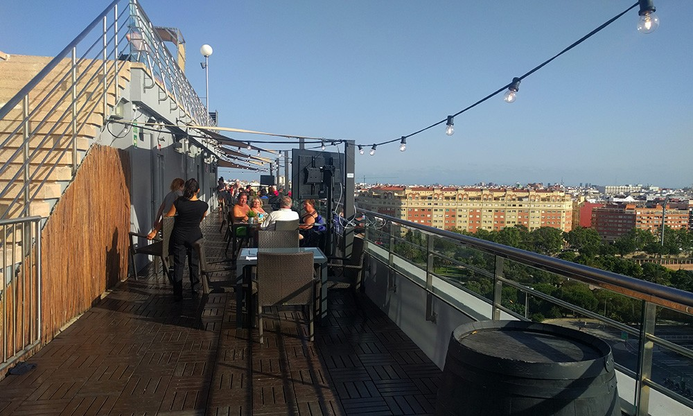rooftop bars in Valencia, Spain: Expo Hotel