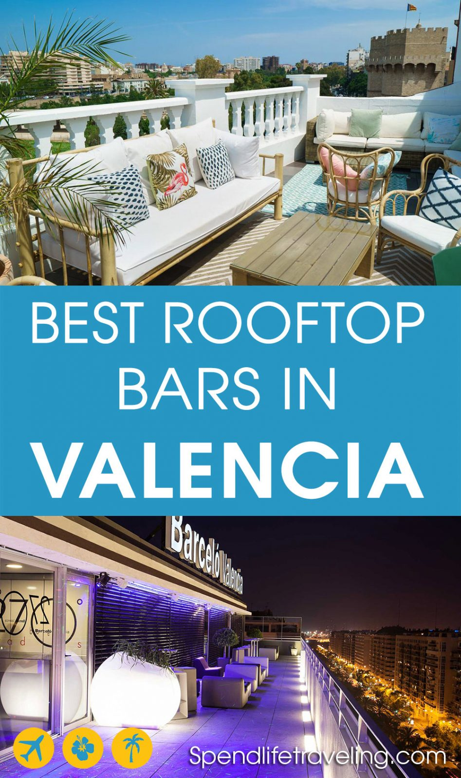 Valencia with its great weather and historical buildings is a perfect place for rooftop bars. Check out this list of the best rooftop bars in Valencia. Map included.