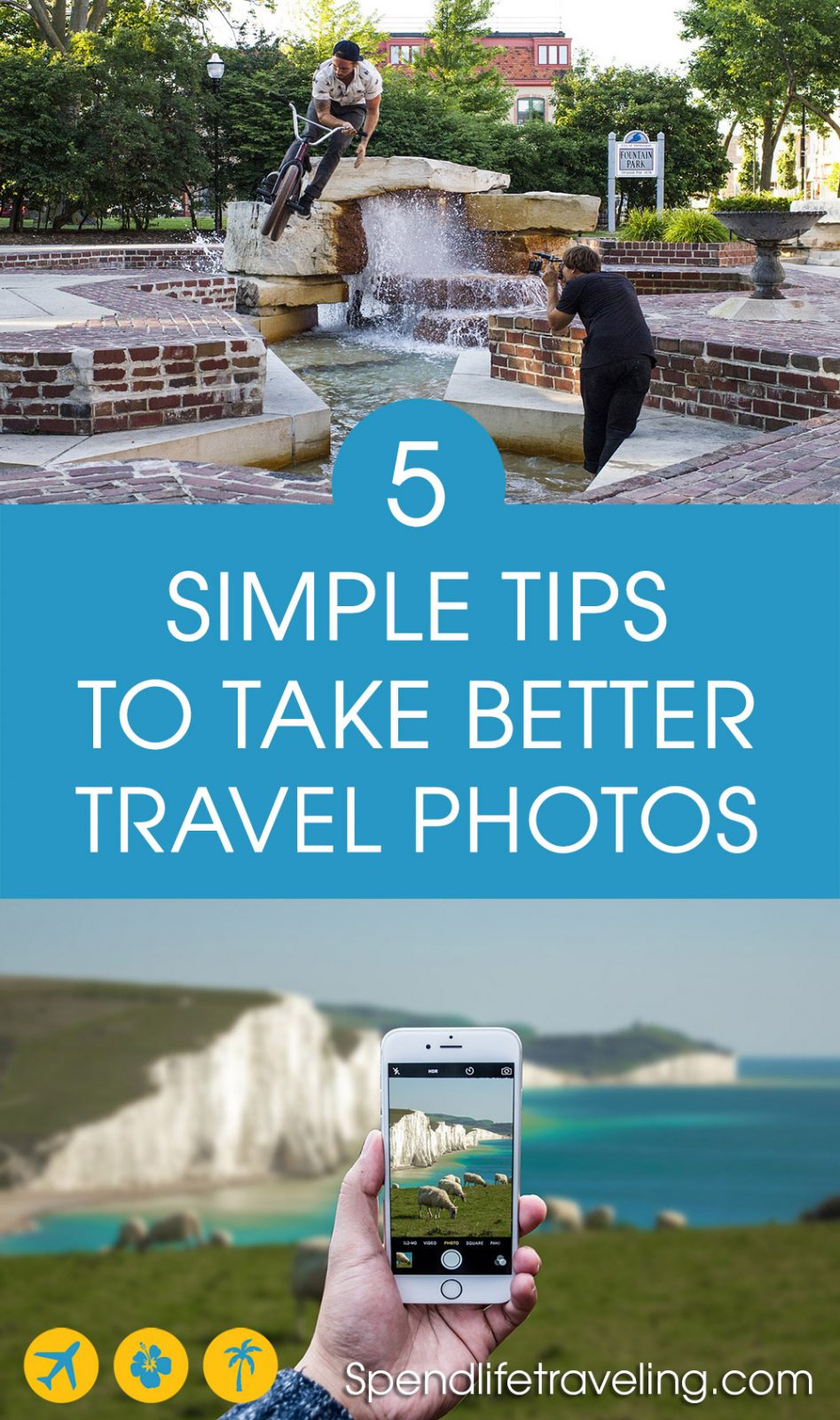 Would you like to take better travel photos? But you don't know where to start? Check out these 5 easy tips which also work perfectly for smartphone #photography. Travel photography isn't difficult! #photographytips #travelphotography #besttravelpictures #travelphotos