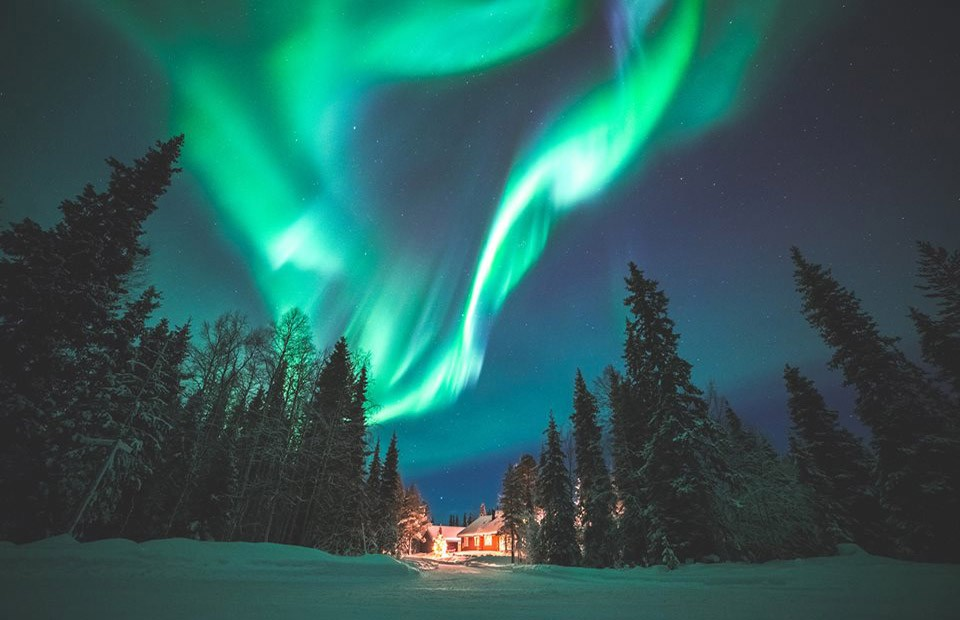 Best places to see the northern lights in Lapland: Ylläs
