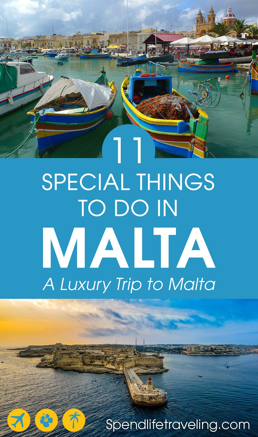 Looking for a more luxurious trip to #Malta? Or would you like to do something unique on your next visit to Malta? Check out these 11 special things to do. #traveltips #luxurytravel #luxurytrip #travelmediterranean