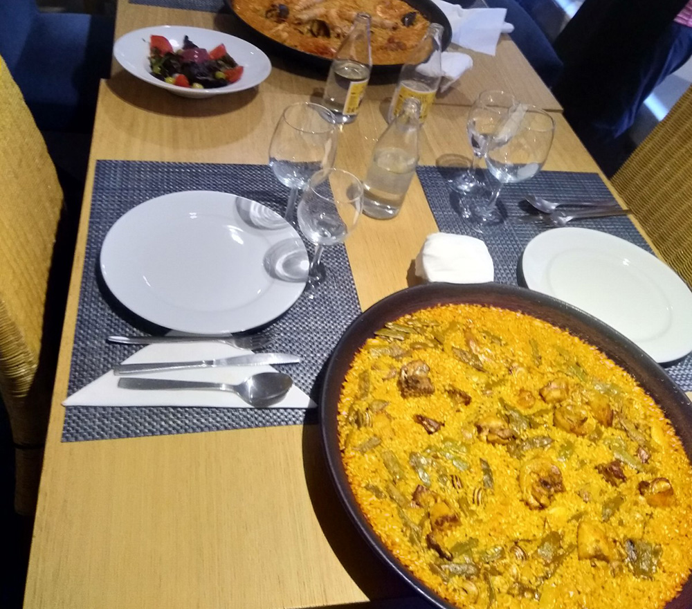 result of our Valencian paella cooking class