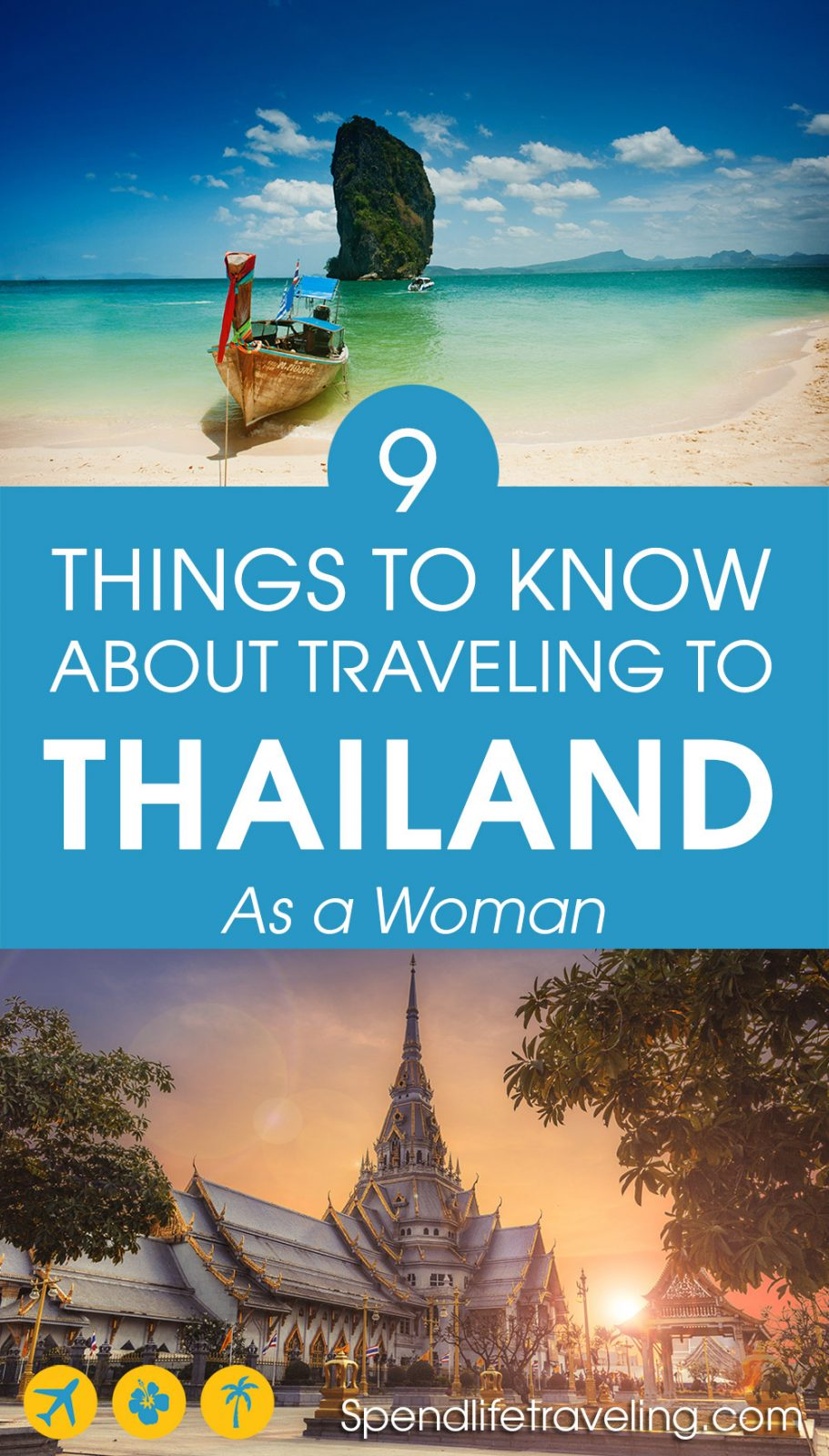 Is Thailand safe to travel? Yes, it is. But check out these useful things to know about visiting Thailand. Some tips specifically for female travelers, some general tips for traveling in Thailand.