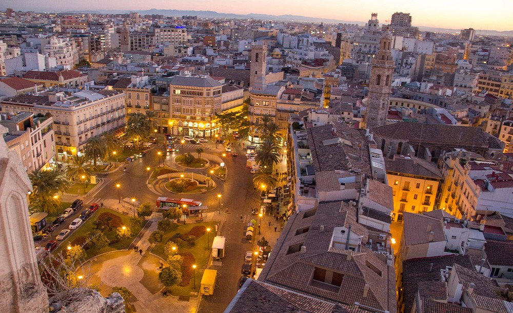 Valencia's historic center - moving to Valencia to retire