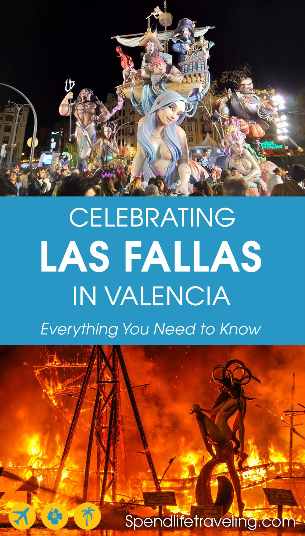 Everything you need to know about celebrating the Las Fallas festival in #Valencia, Spain. #LasFallas #Fallas #Spainfestival