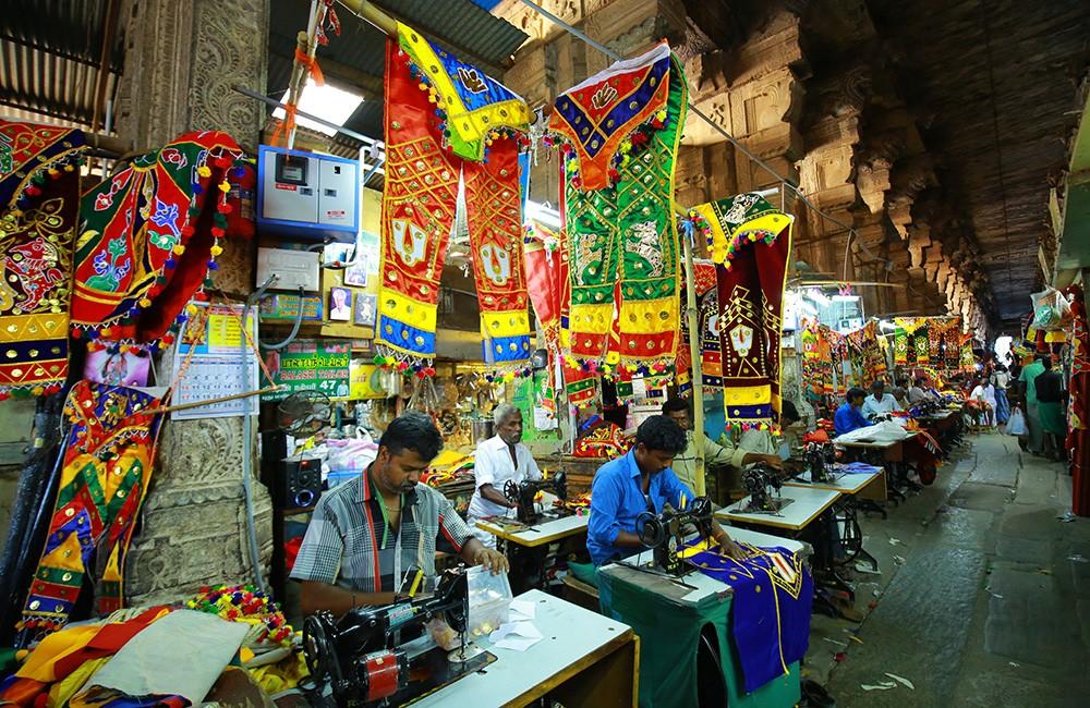 Traveling in Madurai - Shopping