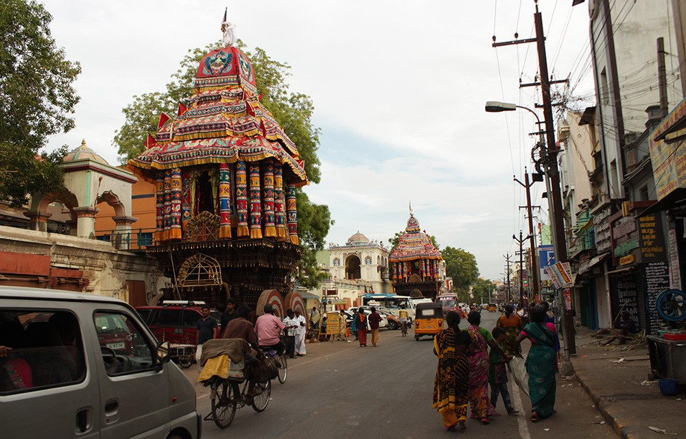 Things to see in Madurai: temple cars