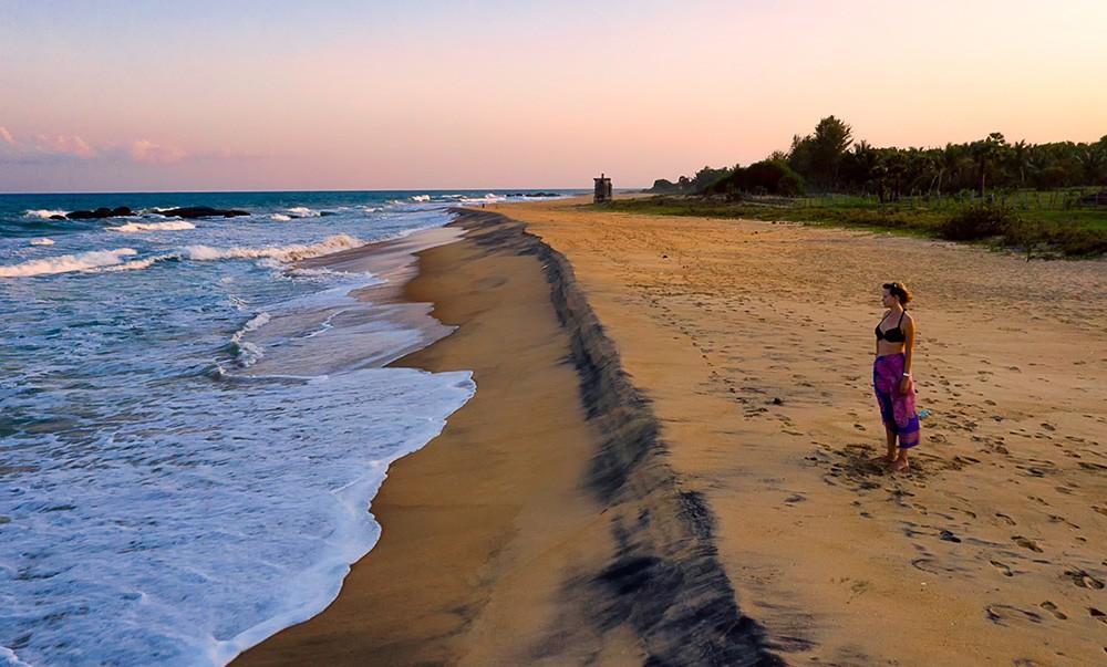 Pondering life at a beach in Sri Lanka