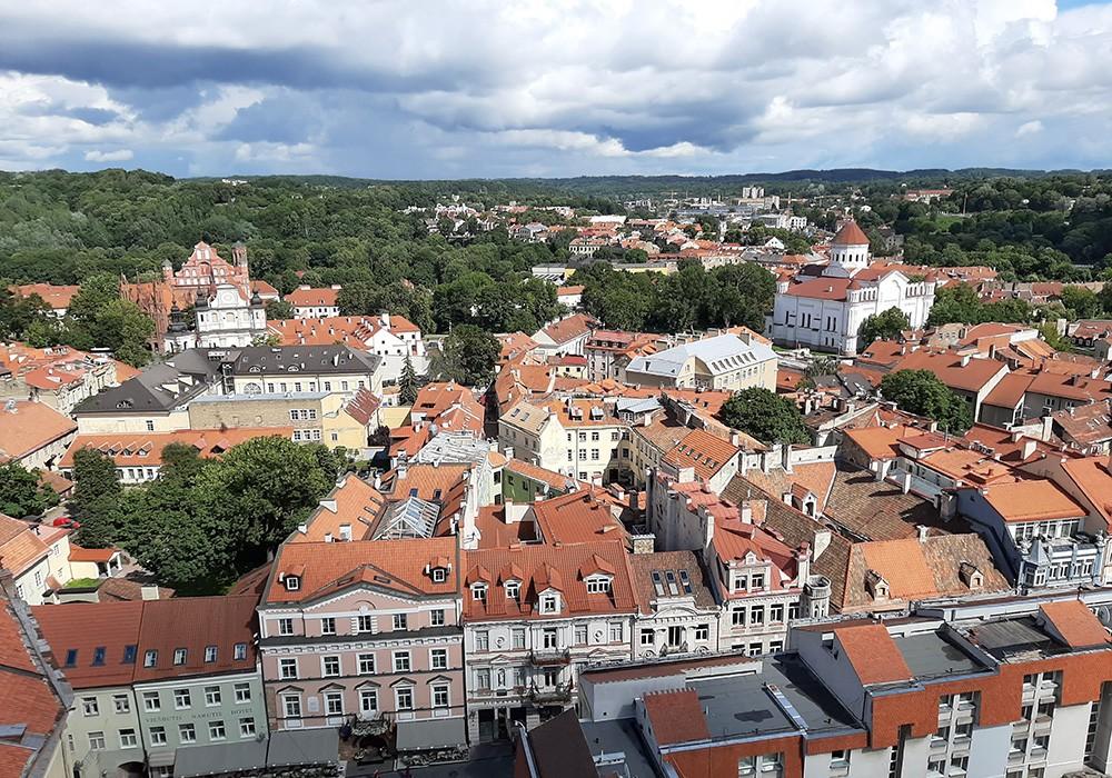 Vilnius from above - life in Vilnius