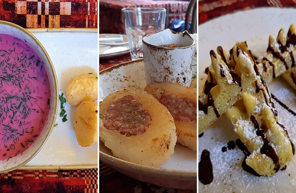 Lithuanian food in Vilnius