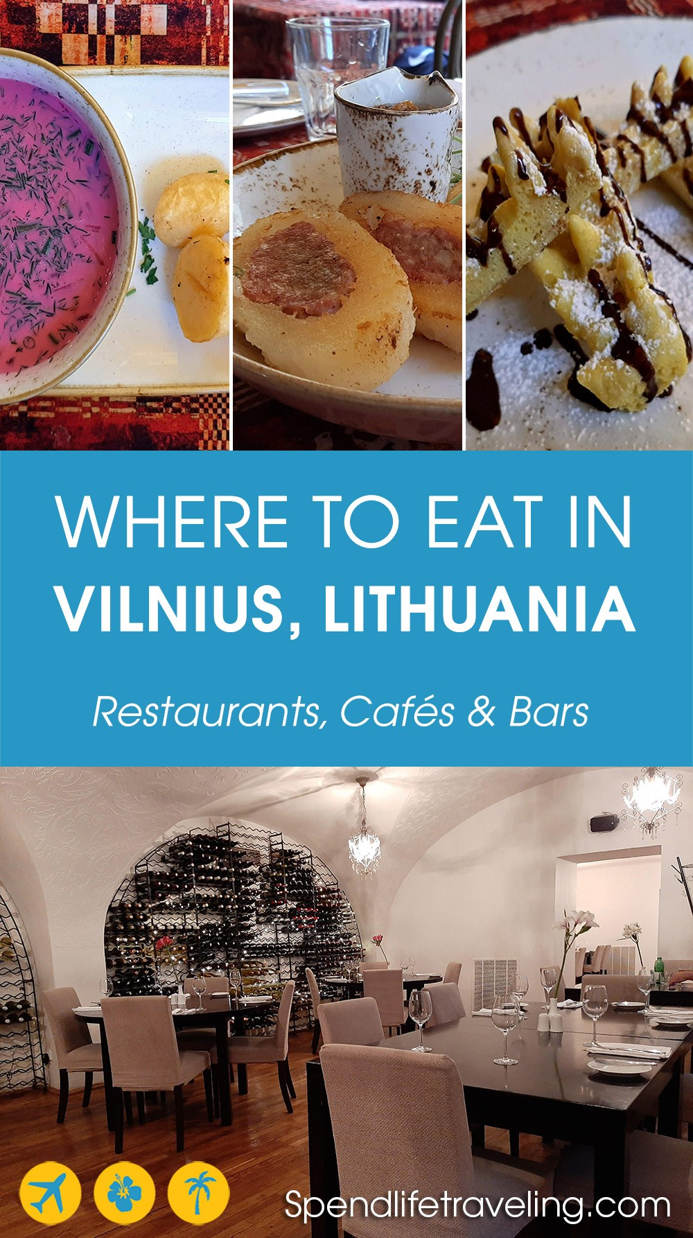 Recommendations for where to eat in #Vilnius. From local food to tapas, vegan places, fine dining, and more. #bestfood #Lithuania