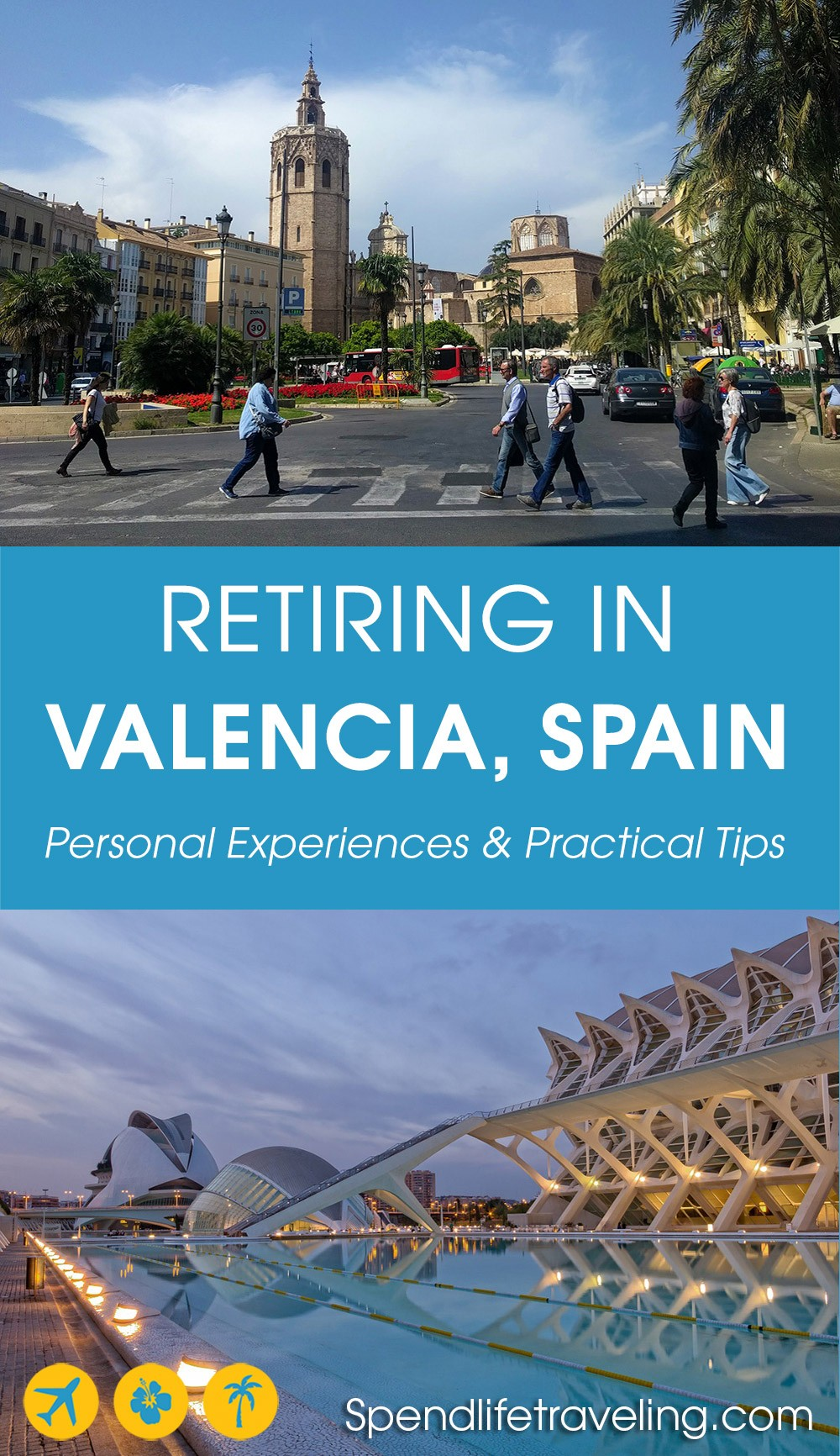 Are you thinking about retiring in Spain? Maybe even specifically in #Valencia? This article contains 4 interviews with people who decided to move to Valencia to retire and want to share their tips & experiences. #retireabroad