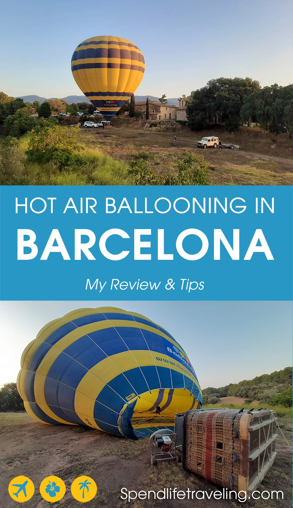 My review of a hot air balloon ride over the countryside outside of #Barcelona, Spain. Is it worth the money?