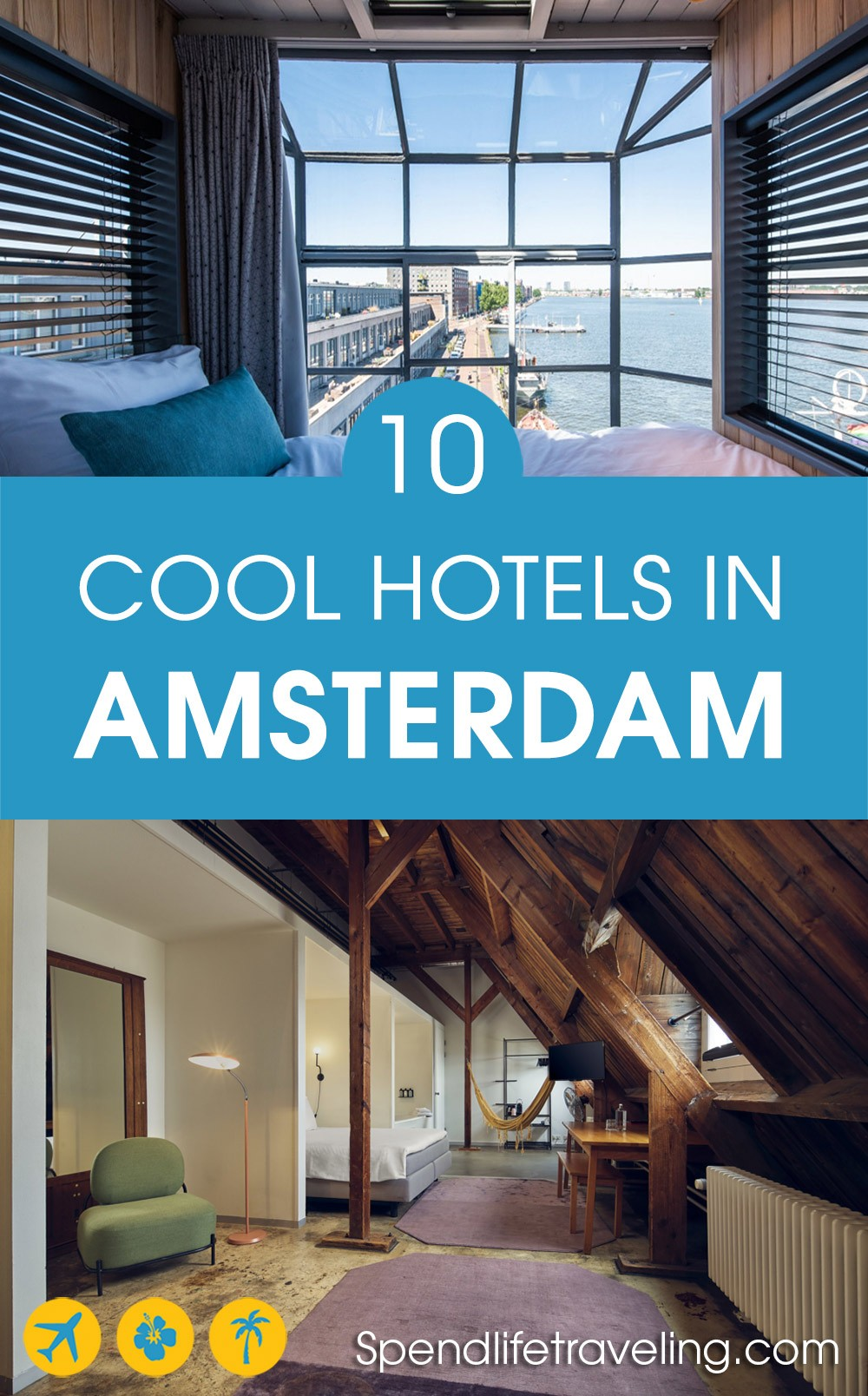 If you are looking for a unique, different, cool hotel in Amsterdam, or a boutique apartment, check out this list!
