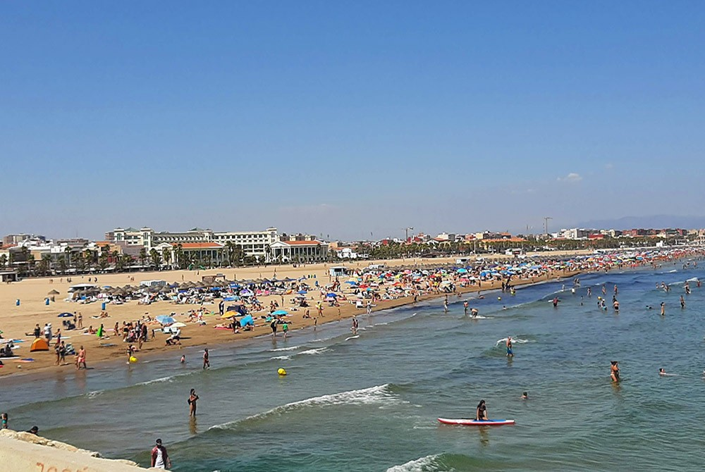 Cabanyal, one of the best neighborhoods in Valencia, Spain