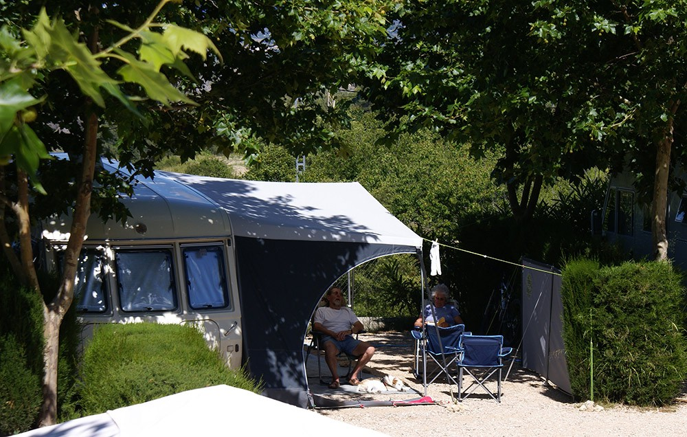 a quieter campsite in Valencia