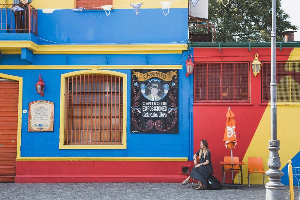Erin in La Boca, a neighborhood in Buenos Aires