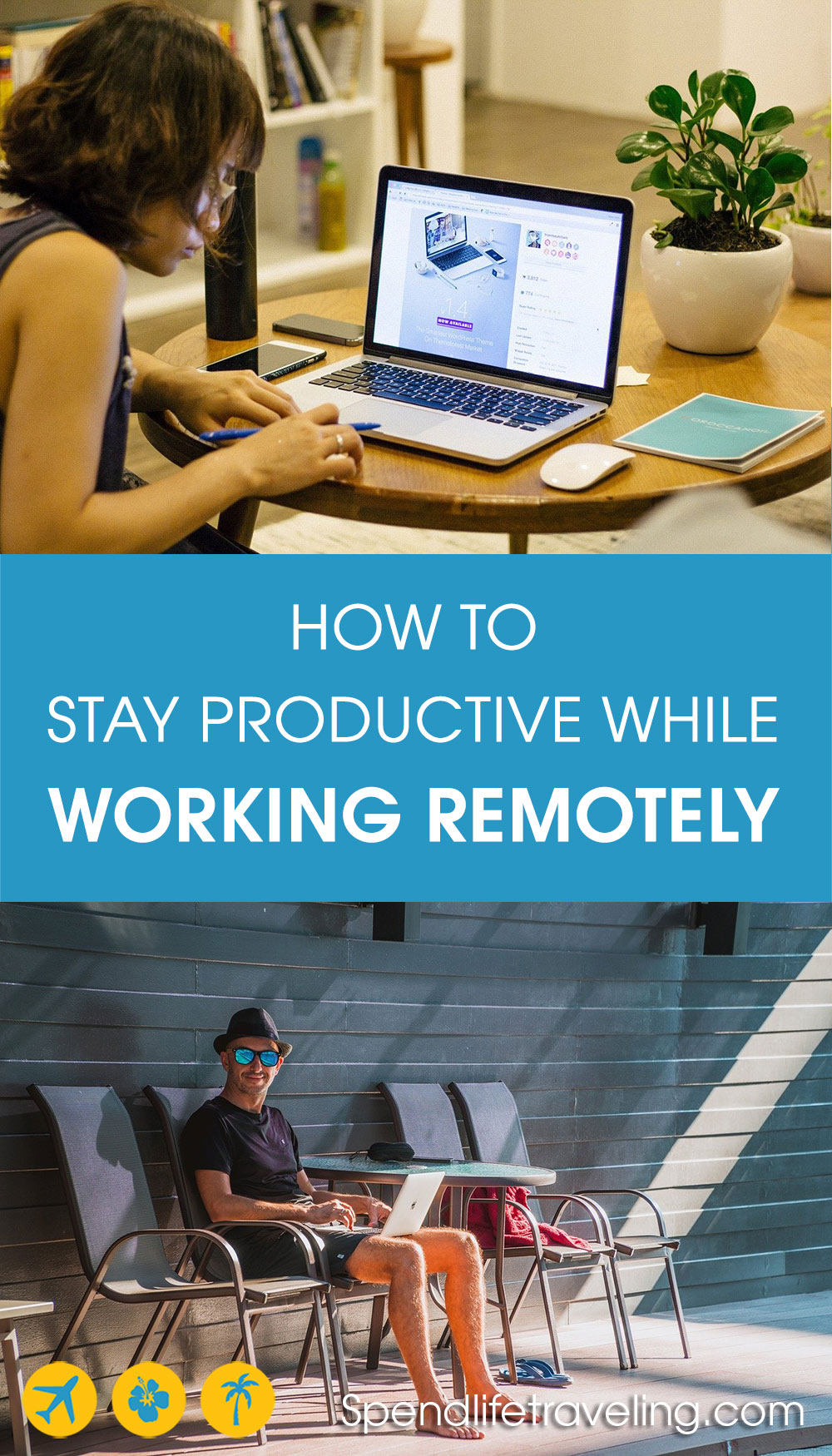 how to be productive while working remotely