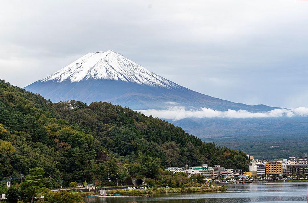 Kawaguchiko in the Japanese countryside