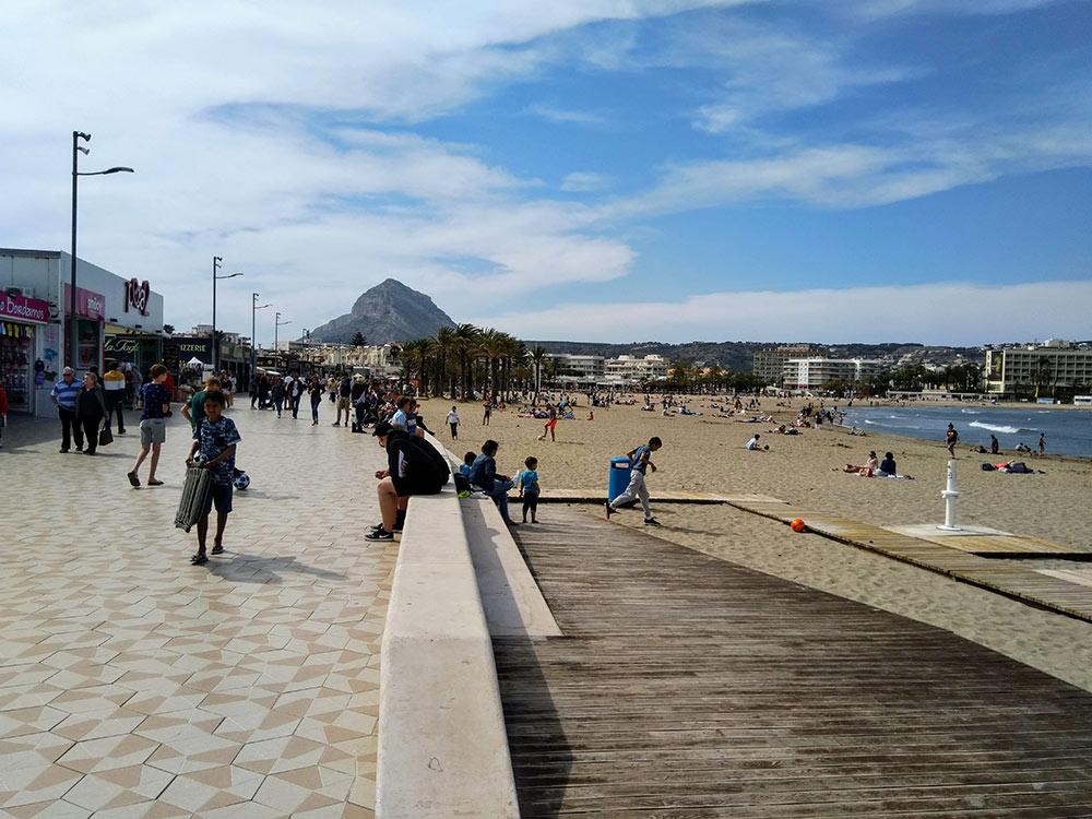 Javea's Arenal beach